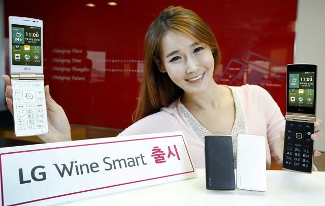 LG Wine Smart, una vuelta a los teléfonos con tapa o formato flip.