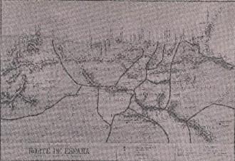 mapa de la zona riojana y aledaños durante la época romana