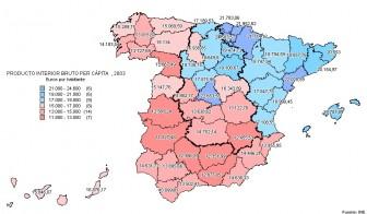 españa pib per capita 2003