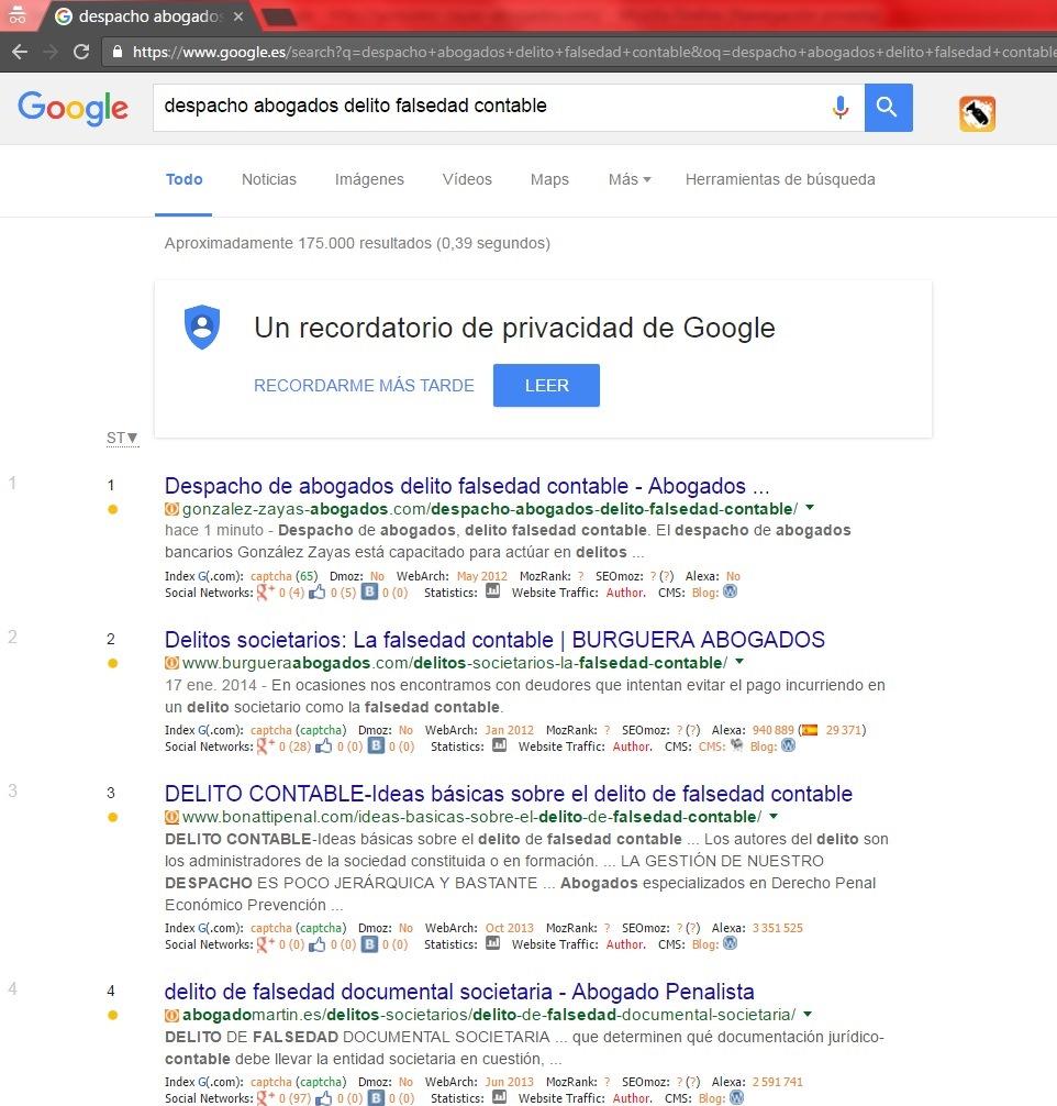 En Google en un minuto