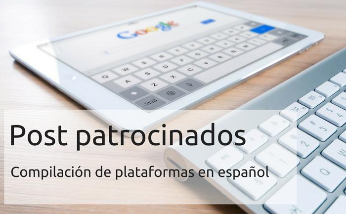 Post patrocinados, compilación de plataformas
