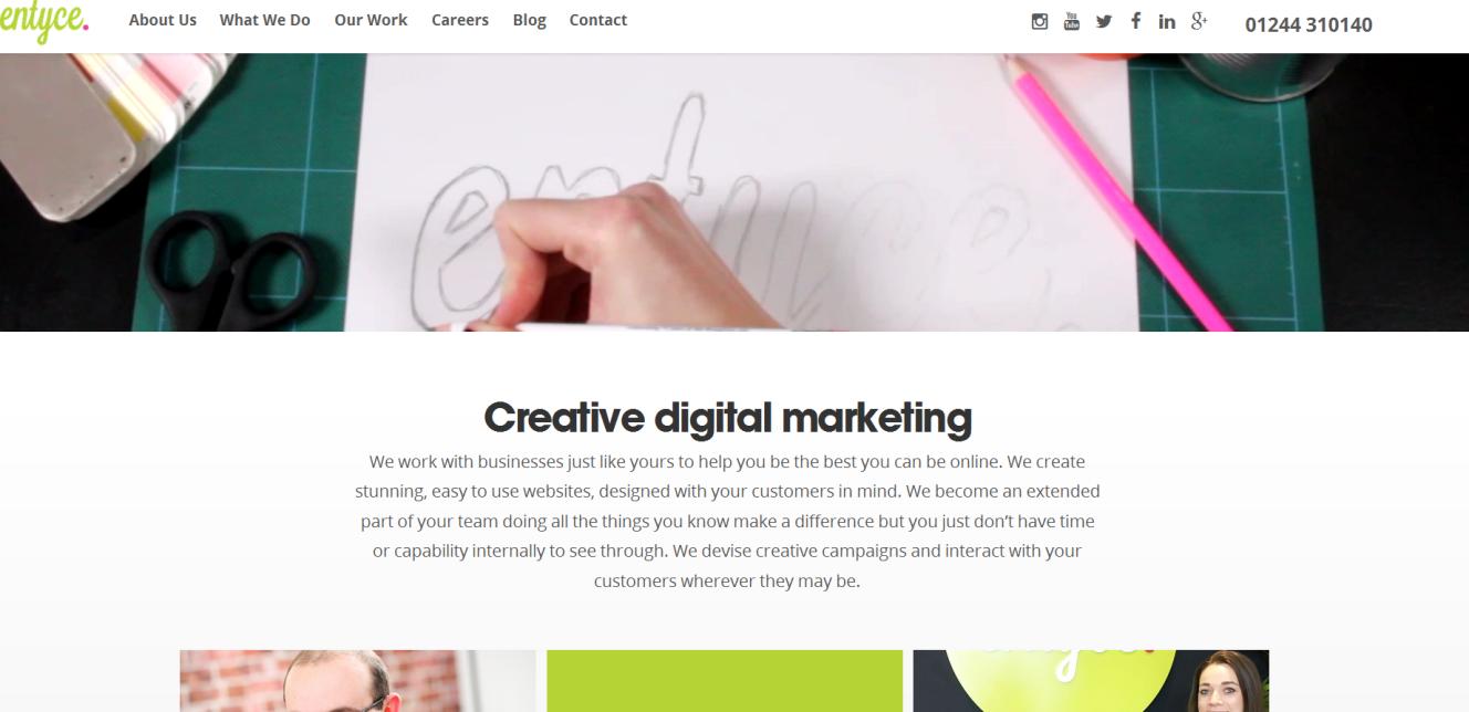 entyce diseño web