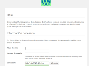 Instalar WordPress en hosting, parte II