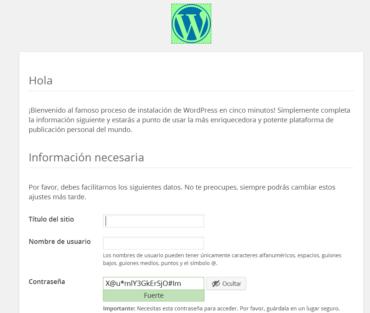 instalacion de wordpress en cinco minutos